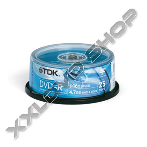 Link to TDK DVD-R 16x Cake (25)