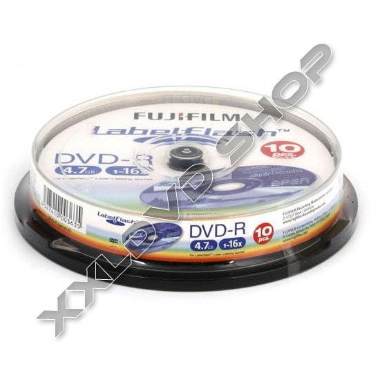 Link to FUJI DVD-R 16x Labelflash Cake (10)