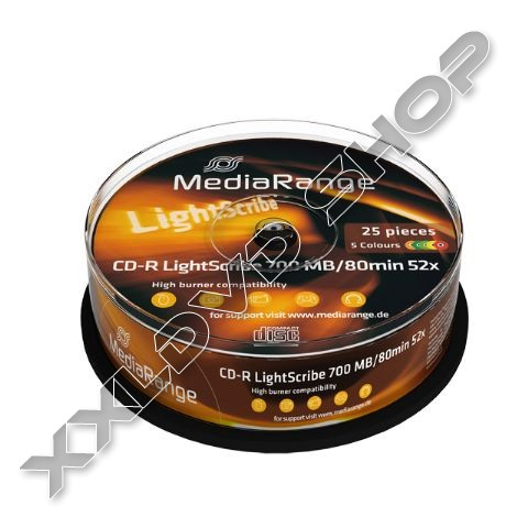 Link to MediaRange 52X CD-R Colour Lightscribe Cake (25) /MR248/