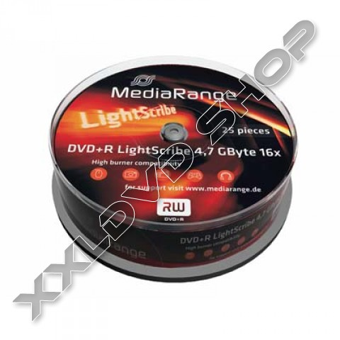 Link to MediaRange 16X DVD-R Lightscribe Cake (25) /MR441/