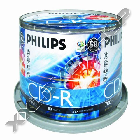 Link to Philips CD-R 52x Cake (50)