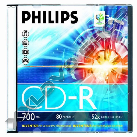 Link to Philips CD-R 52x Slim Case (20)