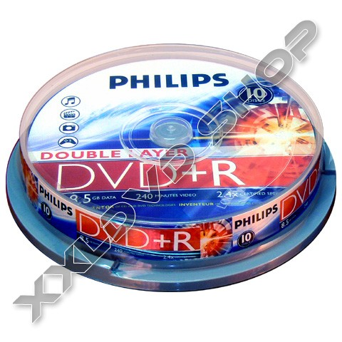 Link to Philips DVD+R 8x DL DVD Cake (10)