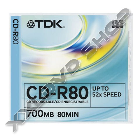 Link to TDK CD-R 52x Slim Case (10)