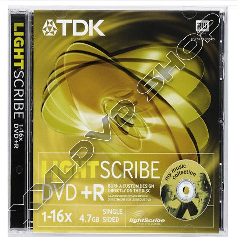 Link to TDK DVD+R 16x Lightscribe Jewel Case (10)
