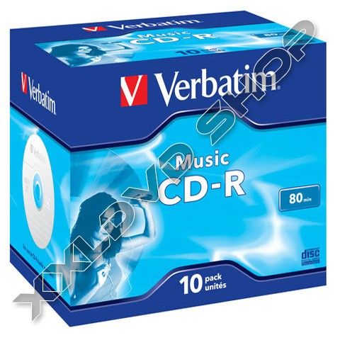 Verbatim CD-R 52x Music Jewel Case (10) /43365/