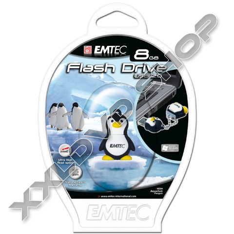 Link to Emtec USB Pendrive 8GB M314 Pingvin