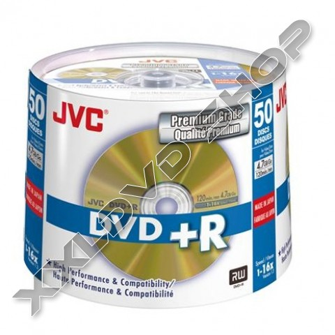 Link to JVC DVD+R 4,7GB 16X Cake (50)