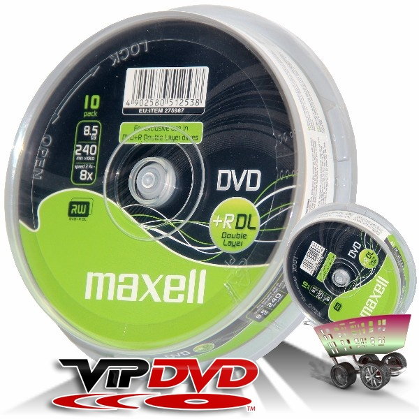 Link to Maxell DVD+R 8x DL Cake (10)
