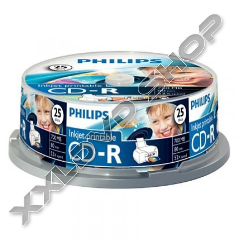 Link to Philips CD-R 52x Printable Cake (25)