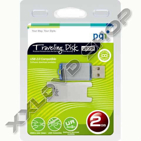 PQI Pendrive 2GB U173 white - blue