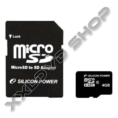Link to Silicon Power 4GB class10 micro SDHC memóriakártya