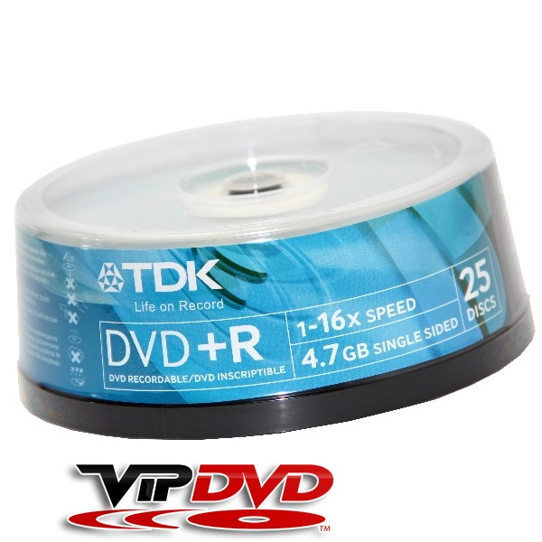 Link to TDK DVD+R 16x Cake (25)