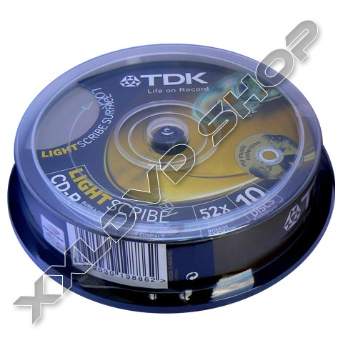 Link to TDK CD-R 52x Lightscribe Cake (10)