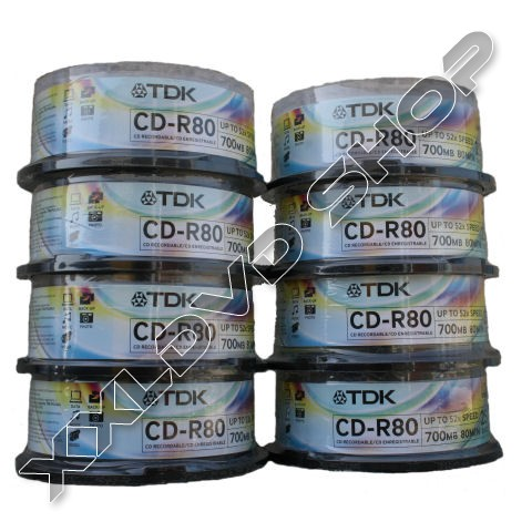 Link to TDK CD-R 52x Cake (8×25)
