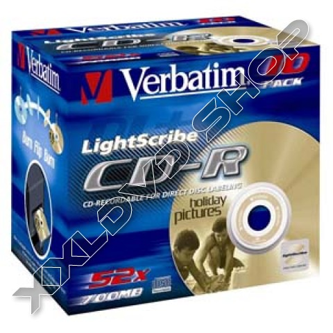 Link to Verbatim CD-R 52x Lightscribe Jewel Case (10)